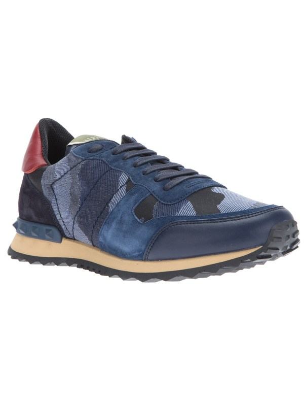 Valentino Camouflage Trainers In Blue Men Lyst