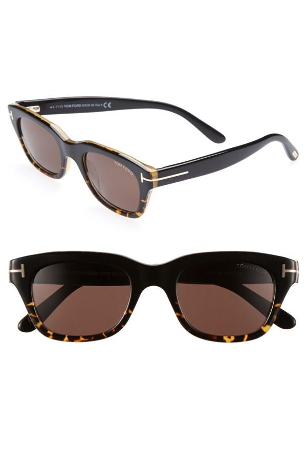 Tom Ford 'snowdon' 50mm Sunglasses - Dark Havana In Brown
