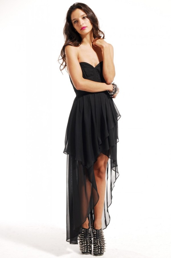 Lyst Akira Black Label Corset Back Bustier Highlow Dress