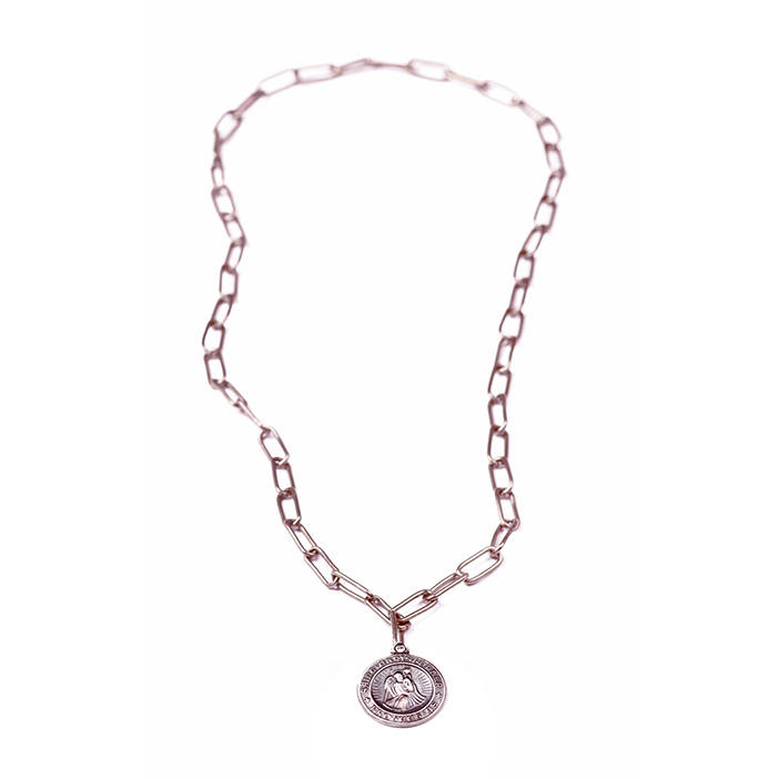 Lulu Frost George Frost Protection Necklace in Pink (white