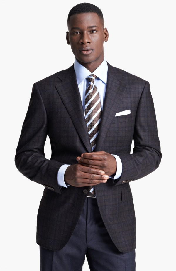 Canali Classic Fit Plaid Sportcoat In Brown Men Lyst
