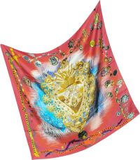 Christian Lacroix Bijoux Print Silk Square Scarf in Red | Lyst