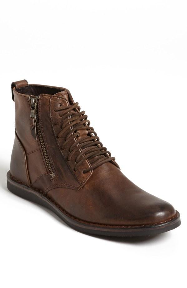 John Varvatos Barrett Plain Toe Boot In Brown Men