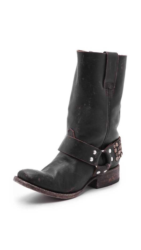 Lyst - Freebird Steven Thompson Studded Moto Boots In Black