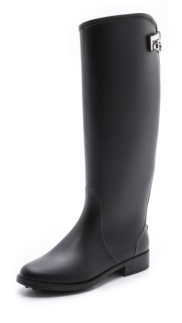 Lyst - Ferragamo Ruben Rain Boots In Black