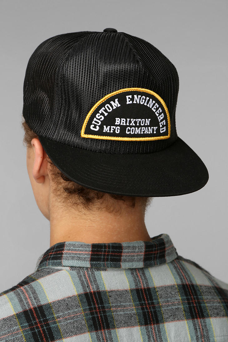 Lyst  Urban Outfitters Trucker Hat in Black for Men
