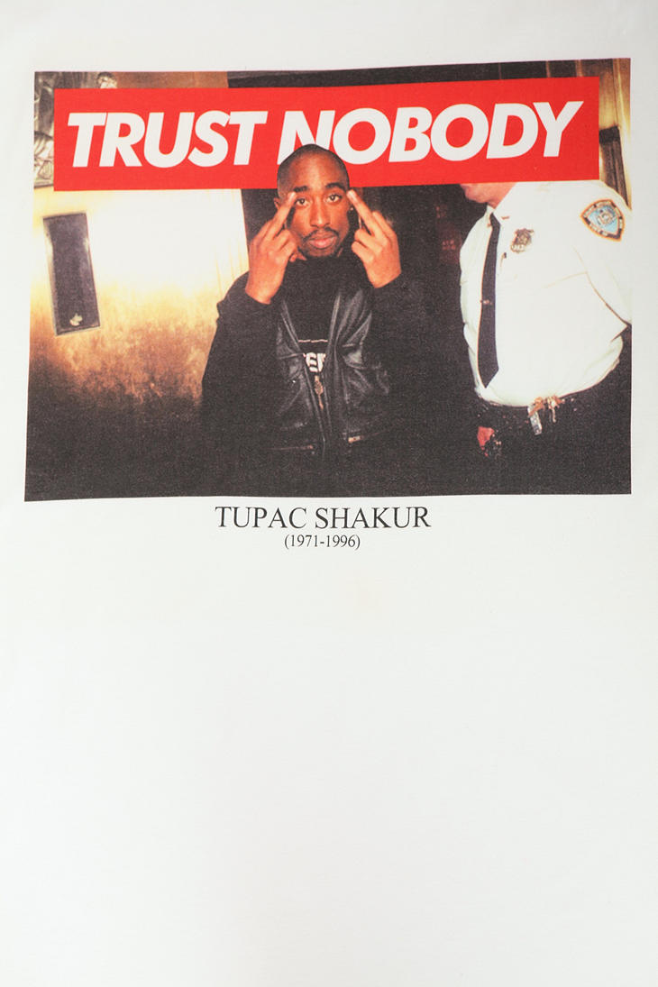 Ralph Lauren Iphone Wallpaper Urban Outfitters Tupac Trust Nobody Tee In White For Men