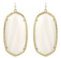 Kendra Scott Danielle Earrings, Mother Of Pearl/Gold in ...