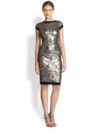 Tadashi shoji Sequined Cap Sleeve Cocktail Dress in ...