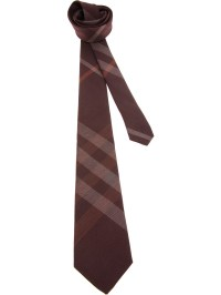Burberry Check Tie in Red for Men | Lyst