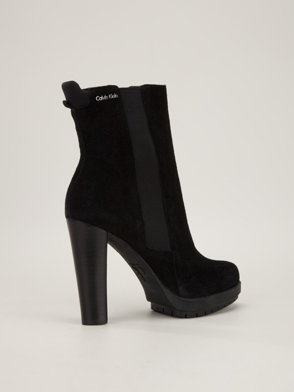 Calvin Klein Ankle Boot In Black Lyst
