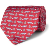 Lyst - Dunhill Foxprint Mulberry Silk Tie in Red for Men