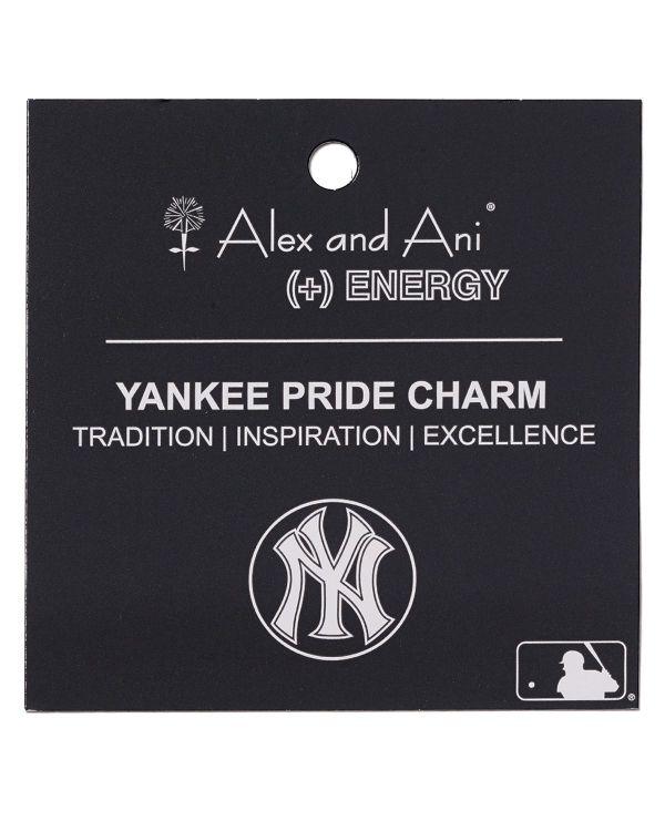 Alex And Ani York Yankees Cap Logo Bangle In Metallic