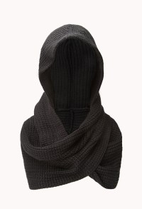 Forever 21 Hooded Scarf in Black | Lyst