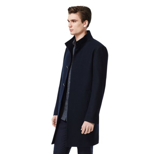 Theory Belvin Vp Coat In Voedar Wool Cashmere Blend