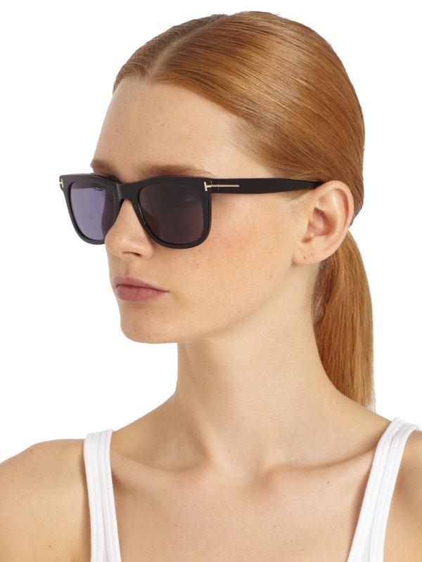 Tom Ford Leo Oversized Square Sunglasses In Black Lyst