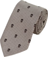 Alexander Mcqueen Skull Neck Tie in Silver for Men | Lyst