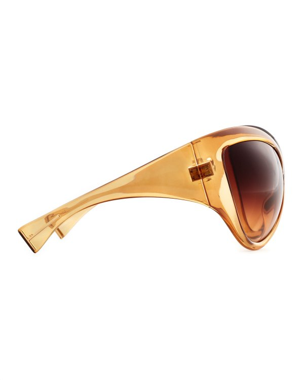 4186352e71 ... Sunglasses Ft0219 Pearl Havana. Lyst - Tom Ford Daphne Oversized  Sunglasses Shiny Light