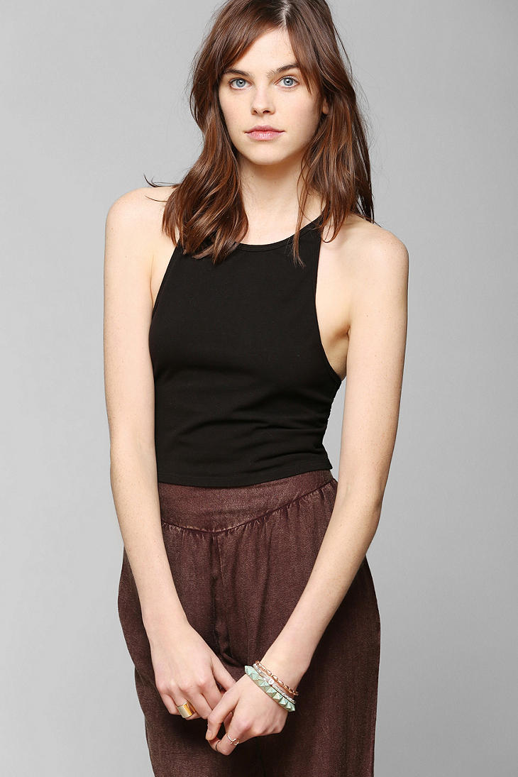 Lyst Urban Outfitters Truly Madly Deeply Crossback Halter Tank Top In Black