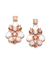 Lyst - Kate Spade New York Faceted Chandelier Earrings in Pink