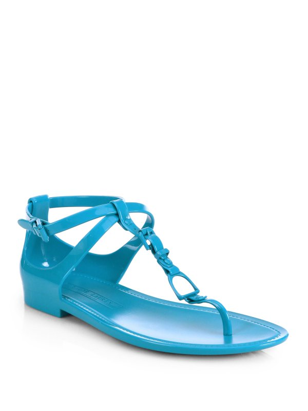 Ralph Lauren Collection Karly Jelly Sandals In Blue Lyst