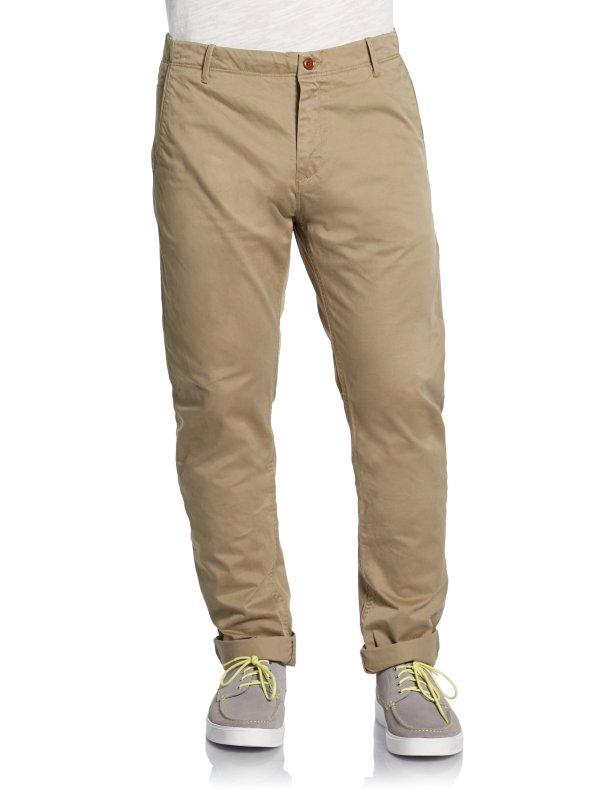 Scotch & Soda Cuffed Chino Pants In Natural Men Lyst