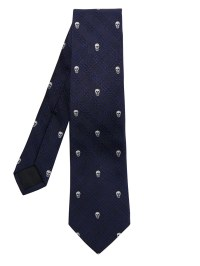 Alexander mcqueen Prince Of Wales Check and Skull Tie in ...
