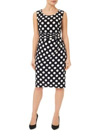 Precis petite Polka Dot Dress in Black | Lyst