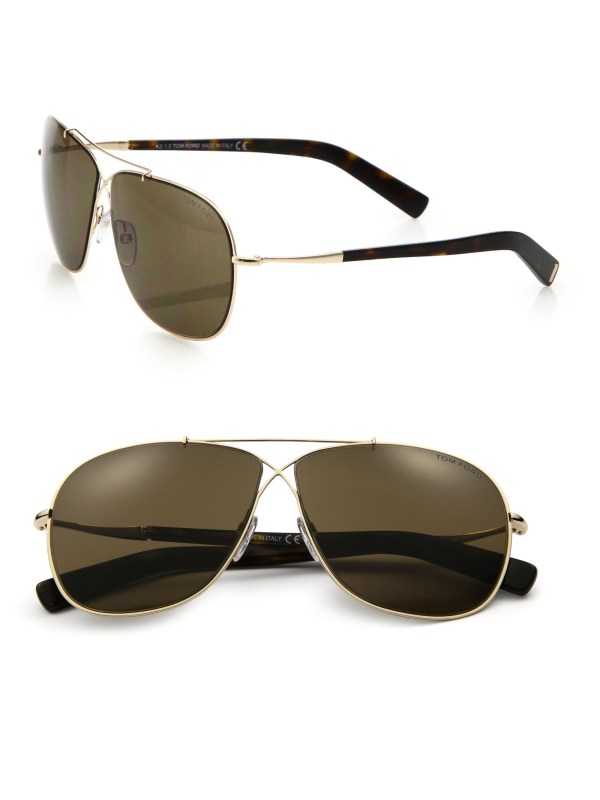 Lyst - Tom Ford 61mm Aviator Sunglasses In Metallic