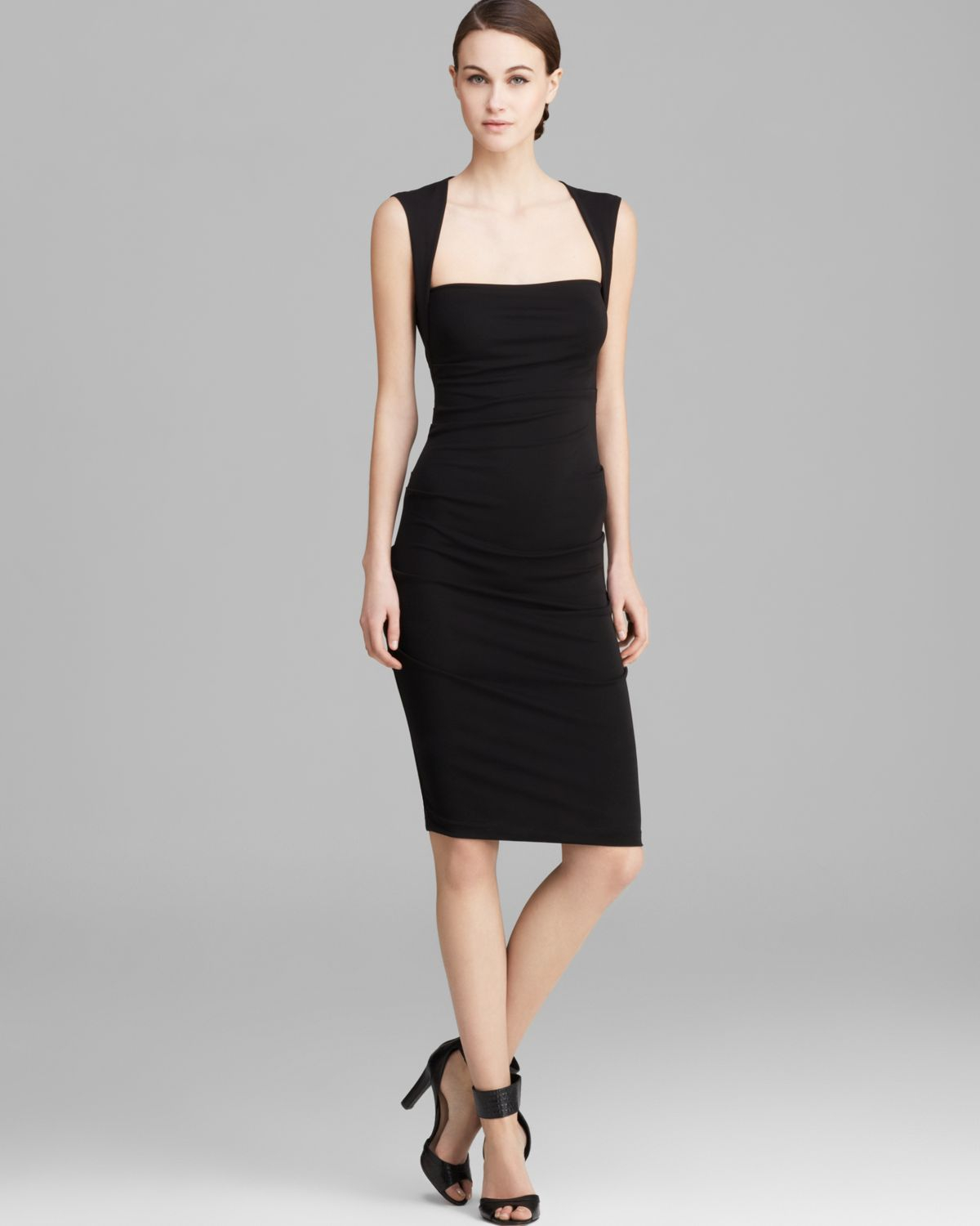Nicole miller Dress Felicity Sleeveless Stretch Matte