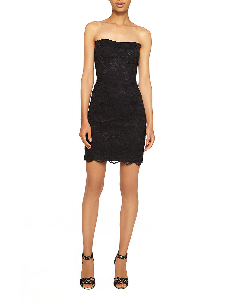 Lyst  Nicole Miller Lace Bodycon Sheath Dress in Black