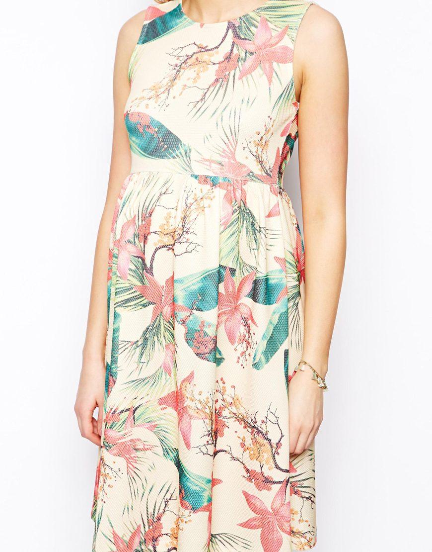 Floral Print Hawaiian Dress