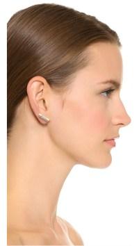 Michael Kors City Barrel Stud Earrings - Gold/clear in ...