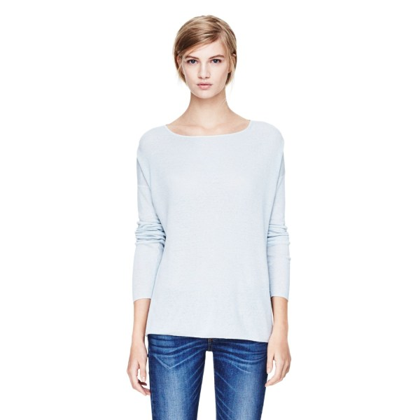 Theory Forestra Sweater In Sag Harbor White Opalescent Lyst