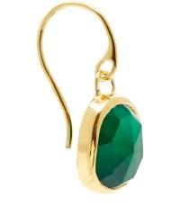 Monica vinader Gold Vermeil Green Onyx Siren Wire Earrings ...