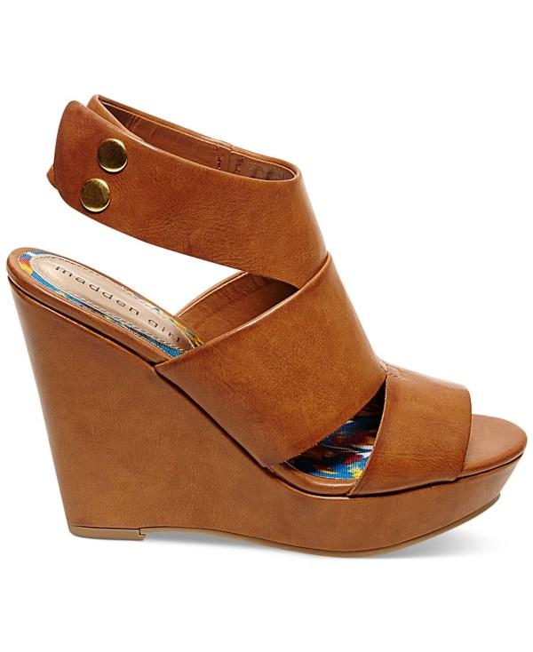 Lyst - Madden Girl Kilter Platform Wedge Sandals In Brown