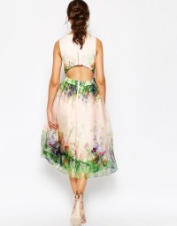 Lyst - Asos Salon Beautiful Floral Organza Prom Dress With ...