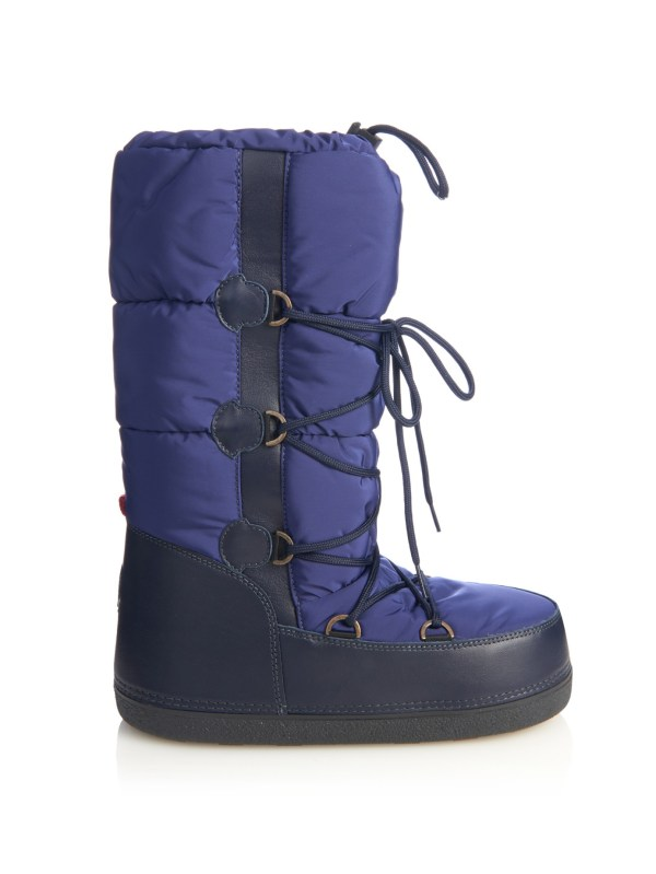 Lyst - Moncler Moon Quilted Ski Boots In Blue