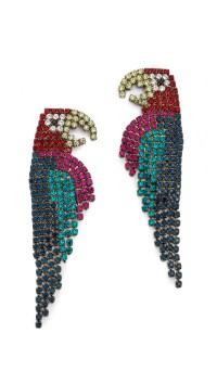 Lyst - Elizabeth Cole Parrot Earrings - Multi in Green