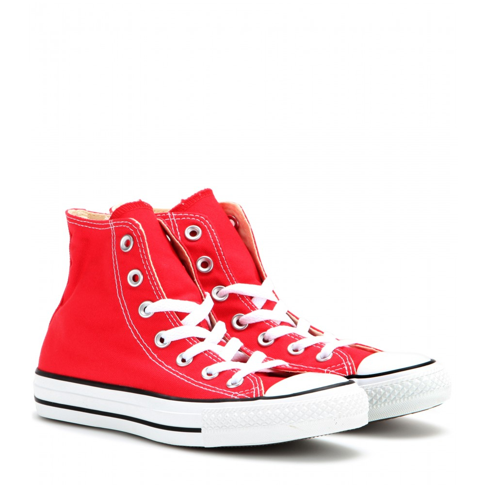 Converse Chuck Taylor All Star Hightop Sneakers in Red  Lyst
