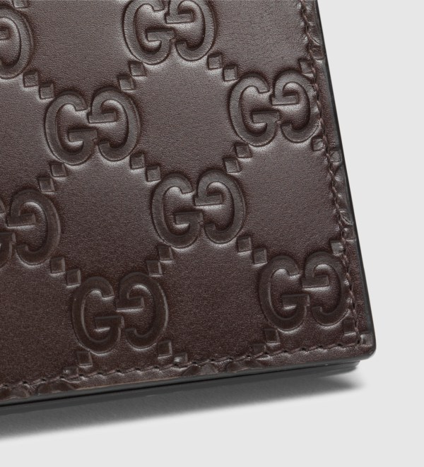 Gucci Leather Gg Wallet In Brown Men Lyst