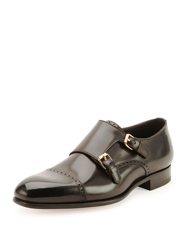 Tom Ford Charles Double Monk Shoes In Black Men Lyst