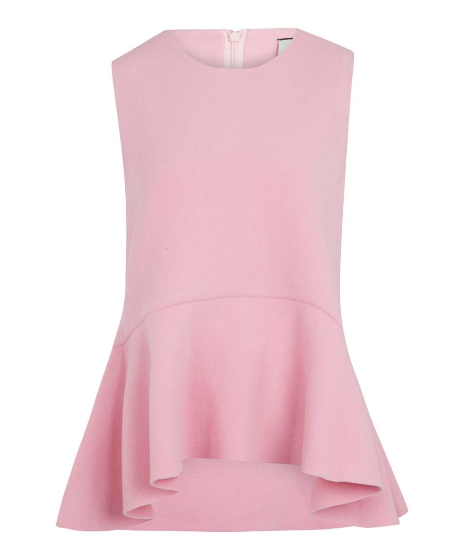 Edit Pink Sleeveless Peplum Top In Pink Lyst