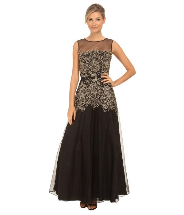 Lyst - Tahari Edwin Mesh Dress In Black