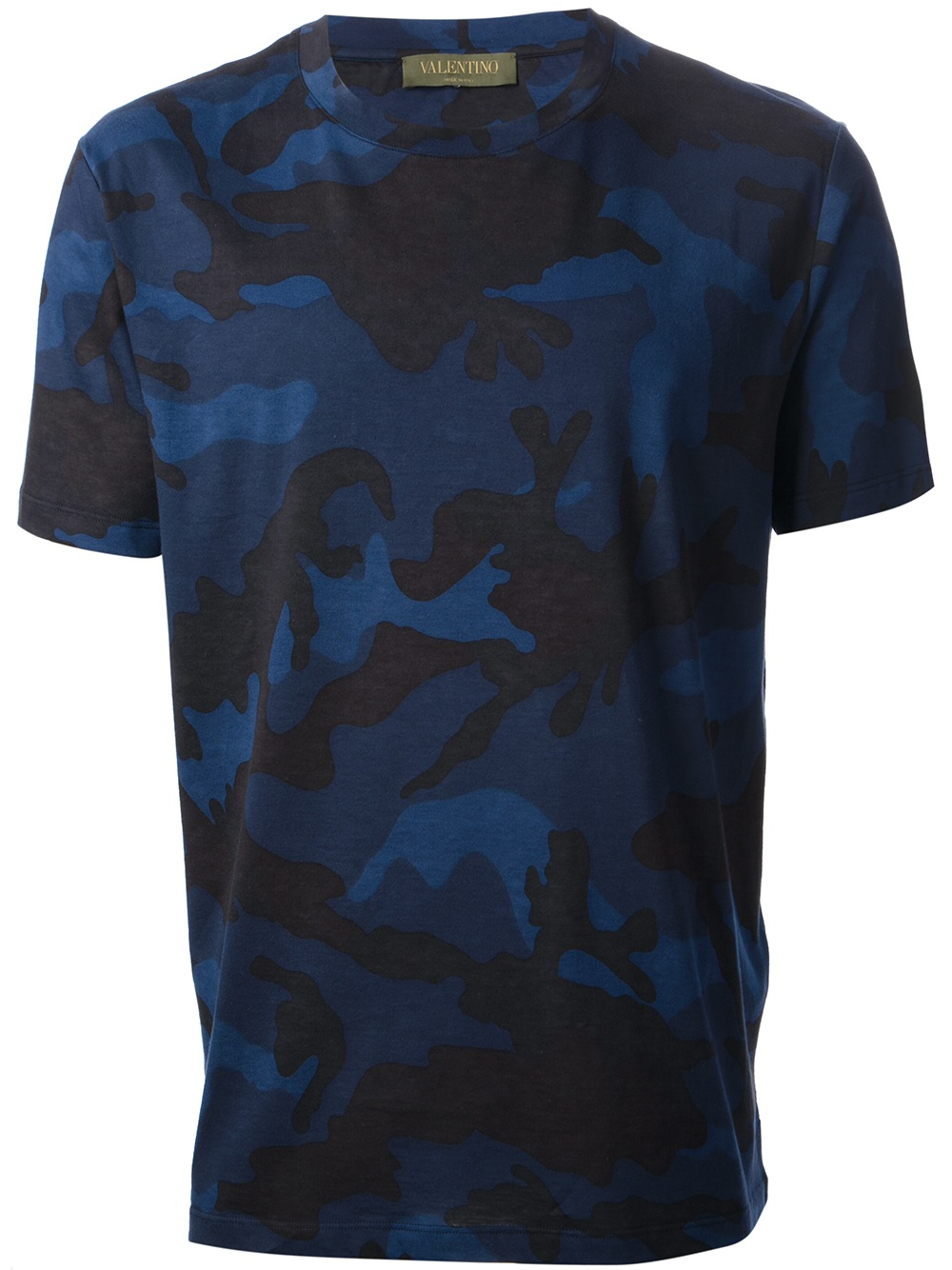 Valentino Camouflage T Shirt In Blue For Men Lyst