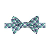 Tommy Hilfiger Micro-Gingham Bow Tie in Green for Men ...