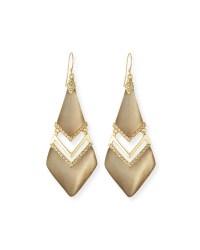 Lyst - Alexis Bittar Chevron Lucite Drop Earrings in Gray