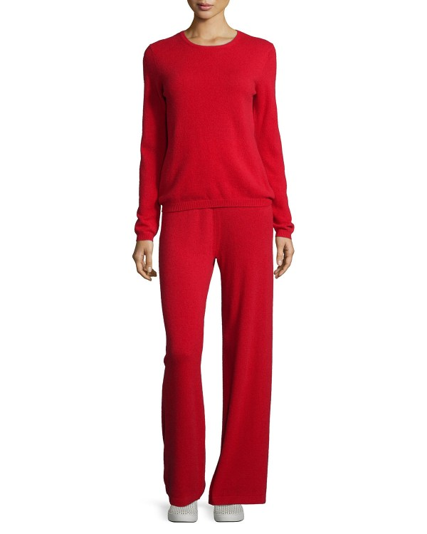 Neiman Marcus Cashmere Collection Sweater & Pant