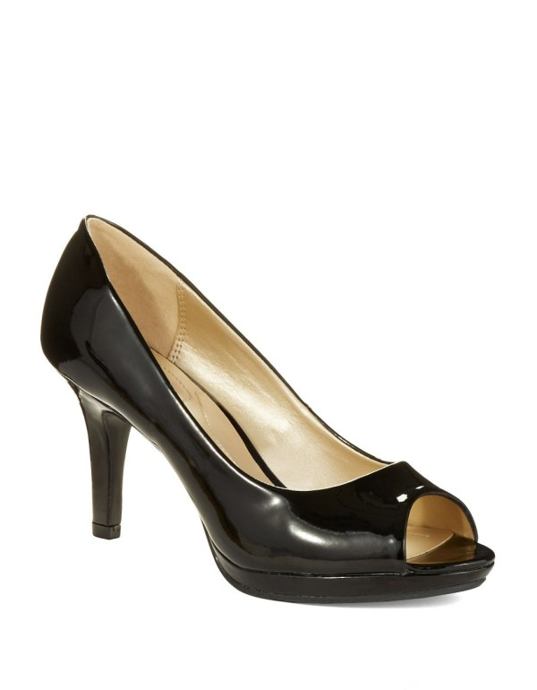 Lyst - Bandolino Supermodel Peep Toe Pumps In Black