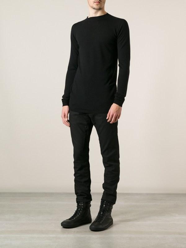 Lyst - Rick Owens Slim Fit Jeans In Black Men